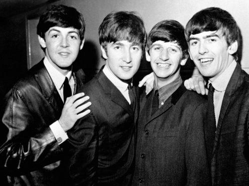 The Beatles left to right, Paul McCartney, John Lennon, Ringo Starr and George Harrison (PA)