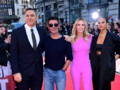 David Walliams, Simon Cowell, Amanda Holden and Alesha Dixon (Ian West/PA)