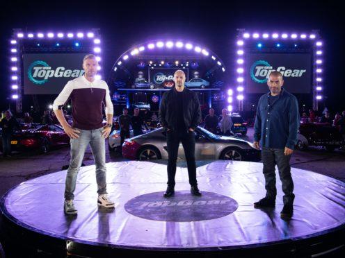 Top Gear hosts Freddie Flintoff, Paddy McGuinness and Chris Harris (BBC)