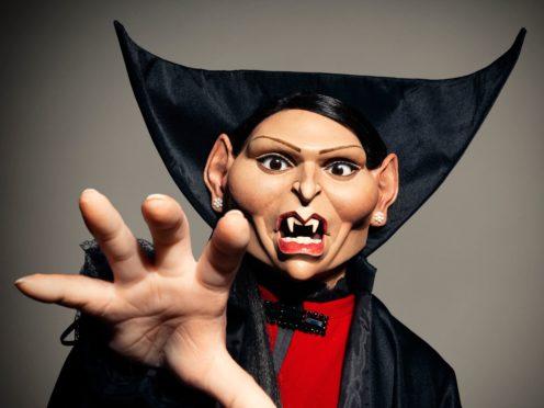 Priti Patel's Spitting Image puppet has a gothic feel (Mark Harrison)