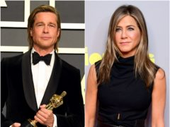 Brad Pitt and Jennifer Aniston shared a risque scene as they took part in the star-studded table read for classic 1980s film Fast Times At Ridgemont High (Jennifer Graylock/Ian West/PA)