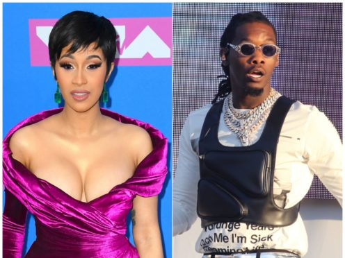 Cardi B and Offset married in secret but their relationship played out in the public eye (Isabel Infantes/PA)
