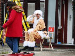 LadBaby filming the Walkers Christmas advert (Joe Pepler/PinPep/PA)