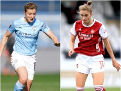 Manchester City's Ellen White and Arsenal's Vivianne Miedema are two of the leading strikers in the Women's Super League (Tim Goode/Adam Davy/PA).