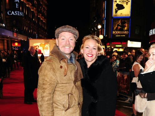 Rufus Hound with his wife Beth (Ian West/PA)
