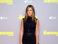 Jennifer Aniston announced she has voted for Joe Biden for president – and took aim at Kanye West's campaign (Ian West/PA)