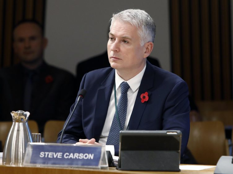 Steve Carson appeared before MSPs (Andrew Cowan/Scottish Parliament/PA)