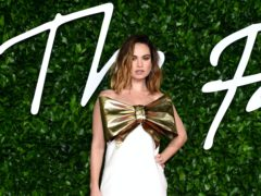 Lily James appeared on a US chatshow – but did not address the controversy surrounding her trip to Italy with Dominic West (Ian West/PA)