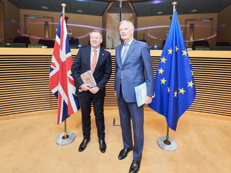 David Frost and Michel Barnier (Dati Bendo/EU/PA)