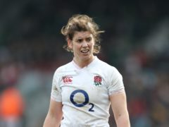 Sarah Hunter will miss out for Grand Slam-chasing England on Sunday (David Davies/PA)