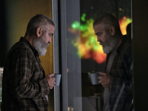 George Clooney as Augustine (Philippe Antonello/Netflix)