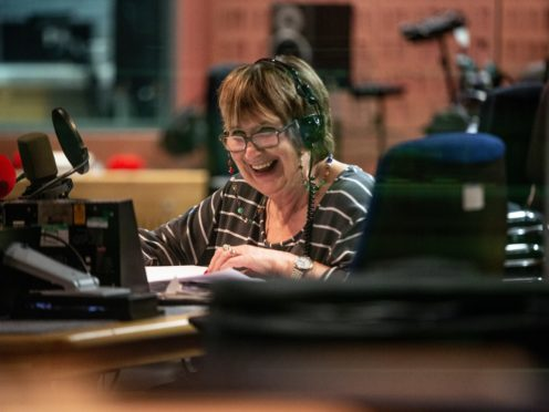 Dame Jenni Murray as she presents her final episode of Woman's Hour (Tricia Yourkevich/BBC/PA)