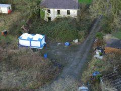 Cyncoed Farm where Michael O'Leary died (Dyfed Powys Police/PA)