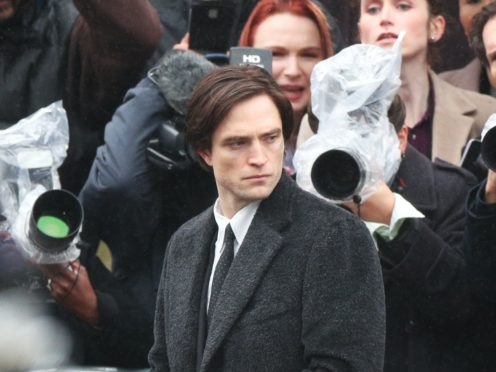 Robert Pattinson during filming of The Batman (Peter Byrne/PA)