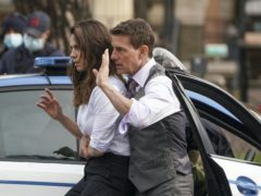 Tom Cruise and Hayley Atwell filming the latest Mission: Impossible adventure (Andrew Medichini/AP)