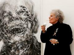 British artist Maggi Hambling looks at her work Laughing (Jonathan Brady/PA)