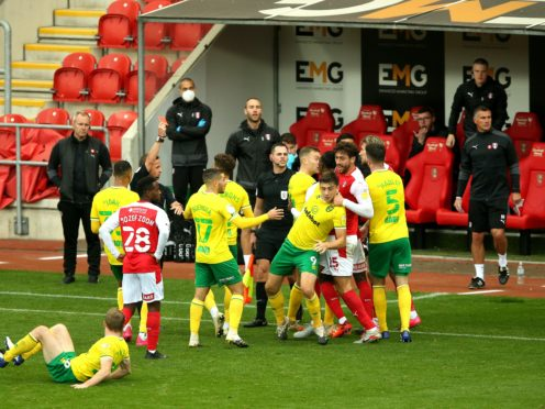 Angry scenes marred Rotherham's Championship clash with Norwich (Nigel French/PA)