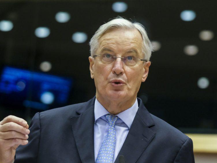 Michel Barnier (Olivier Hoslet, Pool via AP)
