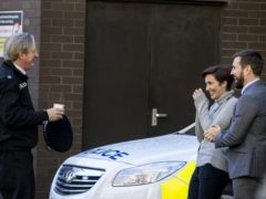 Line Of Duty stars Adrian Dunbar, Vicky McClure and Martin Compston (Liam McBurney/PA)