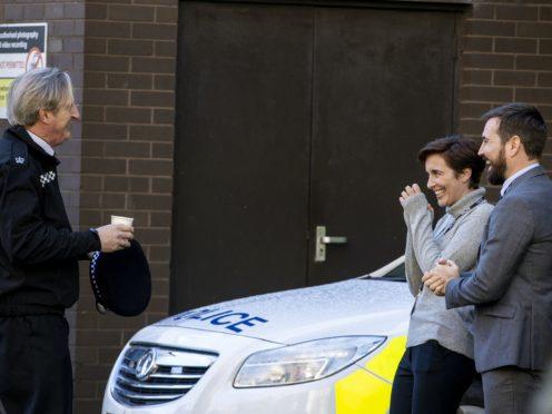 Line Of Duty stars Adrian Dunbar, Vicky McClure and Martin Compston (Liam McBurney/PA)