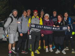 People taking part in a previous The Lost Hours Walk (Calm/PA)