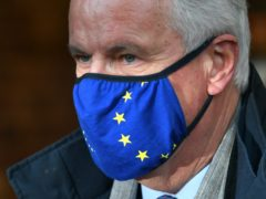 EU's chief negotiator Michel Barnier arrives by Eurostar at St Pancras International (Dominic Lipinski/PA)