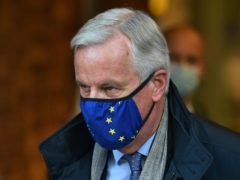 The EU's chief negotiator Michel Barnier arrives by Eurostar at St Pancras International (Dominic Lipinski/PA)