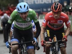 Ireland's Dan Martin, left, claimed victory on the summit finish of stage three of the Vuelta a Espana (Alvaro Barrientos/AP)