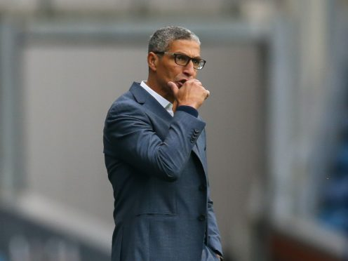 Chris Hughton's Forest claimed a point from Luton (Barrington Coombs/PA)