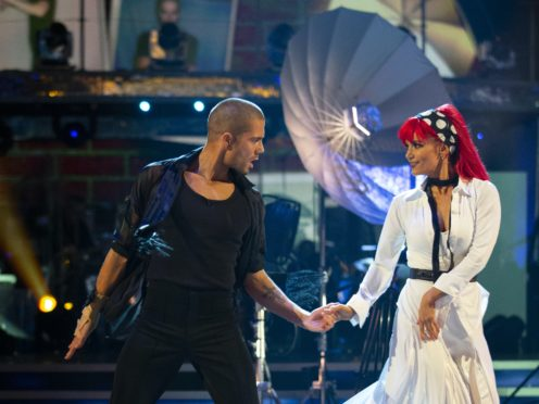 Max George and Dianne Buswell (Guy Levy/BBC)