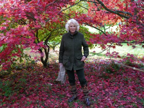 The Duchess of Cornwall during a visit to Westonbirt, the National Arboretum in Gloucestershire (Arthur Edwards/The Sun/PA)