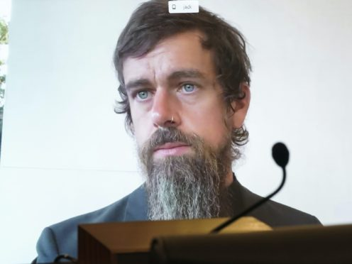 Jack Dorsey spoke at the hearing (Greg Nash/Pool via AP)