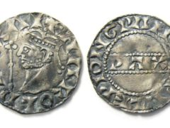 The Harold II silver penny found by Reece Pickering (Hansons/PA)