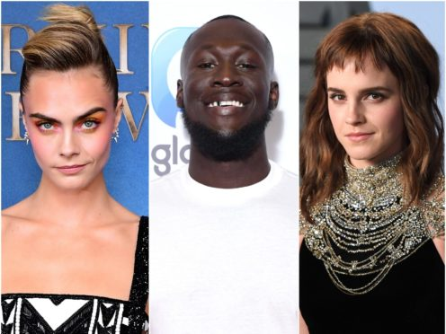 Cara Delevingne, Stormzy and Emma Watson have all made Heat magazine's annual rich list for celebrities under 30 (Ian West/PA)