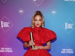 An emotional Jennifer Lopez reflected on her career as she was honoured with the icon award at the E! People's Choice Awards (Todd Williamson/E! Entertainment/NBCU Photo Bank via Getty Images)