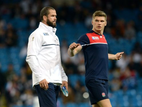 Ireland boss Andy Farrell and son Owen, the England captain, are opponents on Saturday (Martin Rickett/PA)