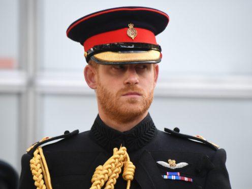 The Duke of Sussex (Jeremy Selwyn/Standard/PA)