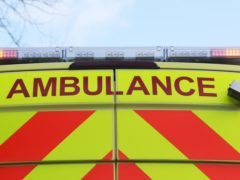 The ambulance was stopped near Dufftown, Moray (Niall Carson/PA)
