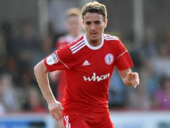 Accrington's Sean McConville was sent off against Lincoln (Anthony Devlin/PA)