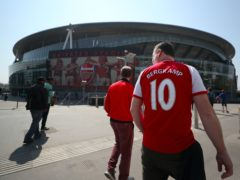 Arsenal fans will be welcomed back to the Emirates Stadium for the Europa League tie against Rapid Vienna (Bradley Collyer/PA)