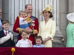 The Cambridges with their three children (Victoria Jones/PA)