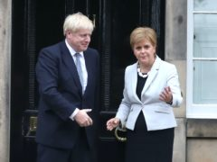Nicola Sturgeon issued a warning to Boris Johnson and the UK Government (Jane Barlow/PA)