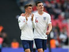 Declan Rice (right) has defended England team-mate Mason Mount. (Nick Potts/PA)