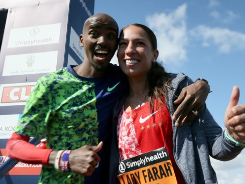 Sir Mo Farah and wife Tania Farah (Richard Sellers/PA)
