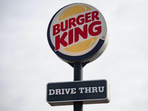 A sign for a Burger King drive thru restaurant (Jacob King/PA)