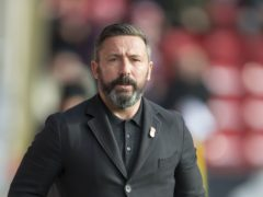 Aberdeen manager Derek McInnes hopes his side can have another successful trip to Ibrox (Ian Rutherford/PA)