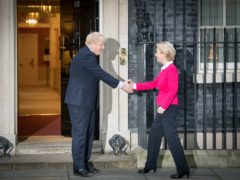 Prime Minister Boris Johnson and EU Commission president Ursula von der Leyen spoke over the phone on Saturday about the trade negotiations (Stefan Rousseau/PA)