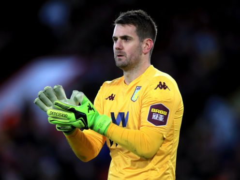 Aston Villa goalkeeper Tom Heaton is back in daily training after a serious knee injury (Mike Egerton/PA)