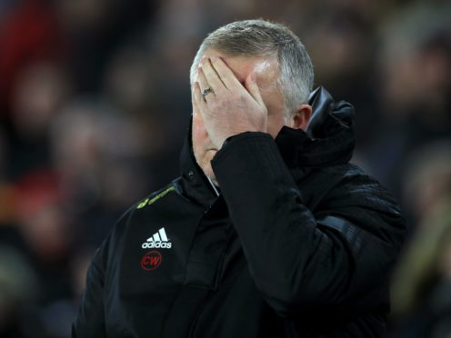 Sheffield United boss Chris Wilder has told his players not to look at the Premier League table (Mike Egerton/PA)