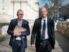Chief scientific adviser Sir Patrick Vallance, left, and chief medical officer for England Chris Whitty (Dominic Lipinski/PA)